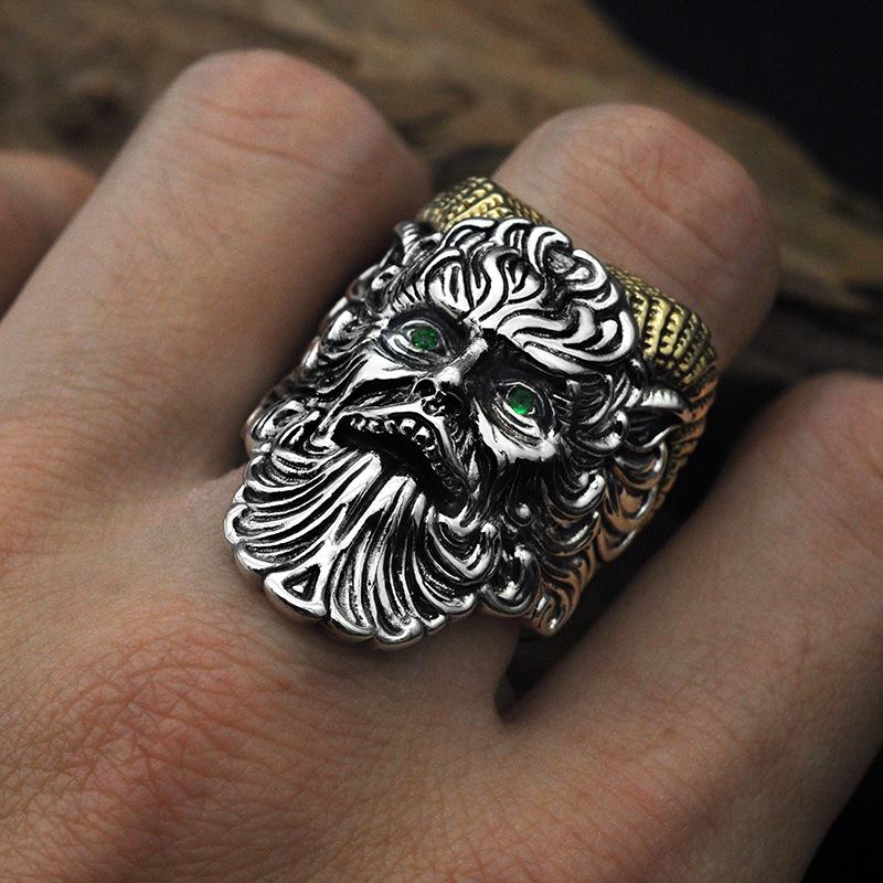 Vintage ram roh satan pánské prsteny motocykl strany gothic punk prsteny  osobnost ďábla prsten muži ženy šperky příslušenstv sleva ~ Šperky A  Doplňky \ www.novepecivo.cz